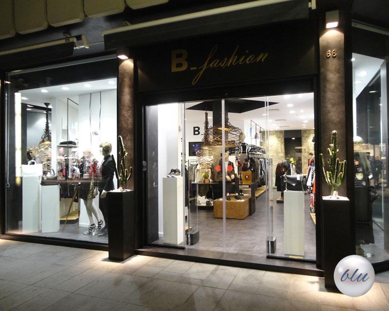 Arredamento negozio di abbigliamento B_fashion