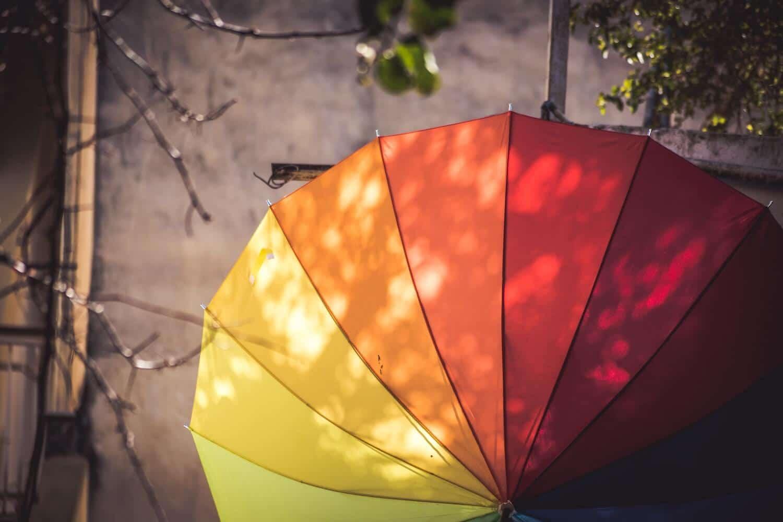 colori negozio, ombrello colorato, COMINshop