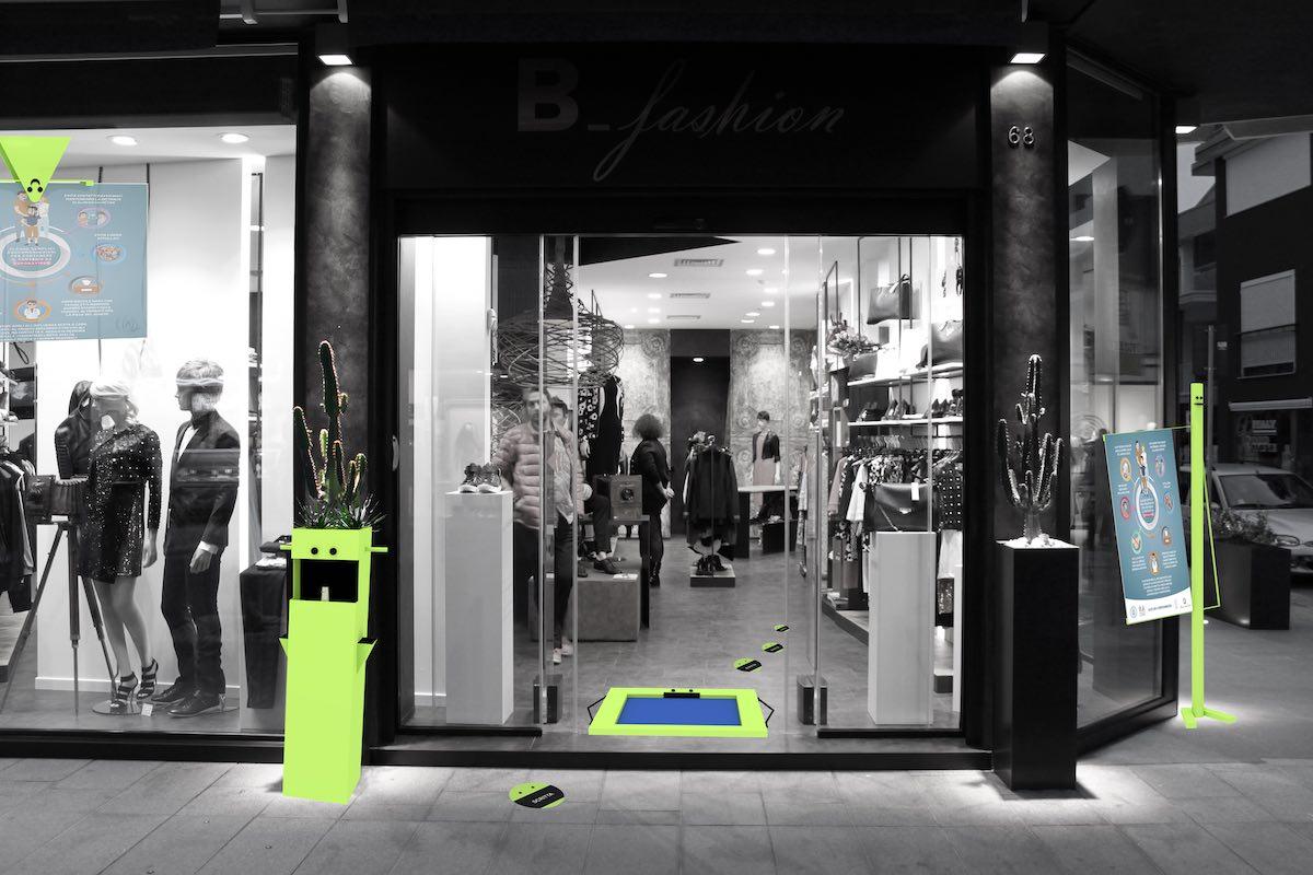 riaprire negozi in sicurezza, COMINshop, arredamento negozi, progetto super eroi dei negozi
